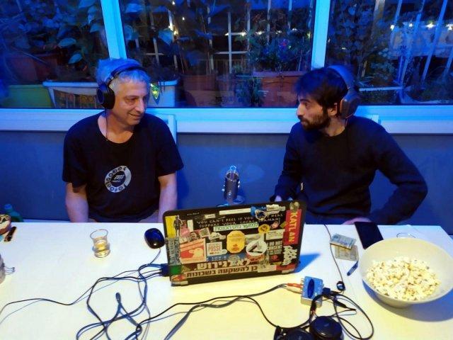 Ido Shabtai Fuchs (right) at Radio Stalin