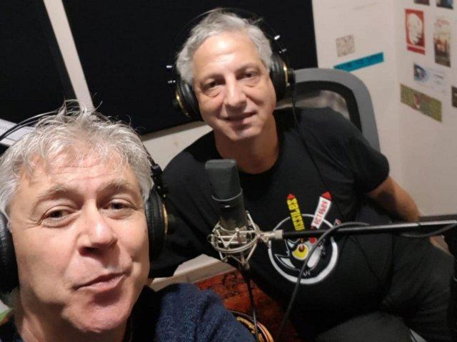Jonathan Bar Giora (left) at Radio Stalin