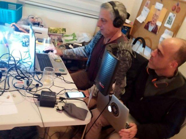 DJ Joy (right) at Radio Stalin
