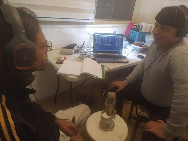 Orr 25 (left) at Radio Stalin